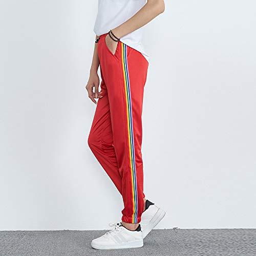 fitness Jogging Pantalone Taglie Per Libero Forti Donna mambain Tempo Cargo A Righe Baggy Pantaloni Eleganti Moda sportivi gym Rosso Alla q6FZw7Sc