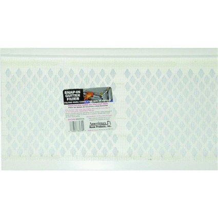 AMERIMAX HOME PRODUCTS 86370 3' White Snap Gutter Filter