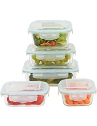 Gain 10pc Glass Food Storage Bowls/Containers w/Locking Lids cheapest