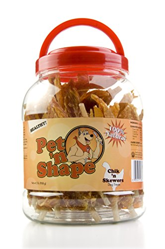Pet 'n Shape Chik 'n Skewers Natural Dog Treats, 2-Pound Tub Christmas Food Treats