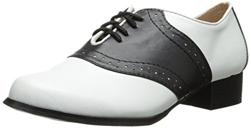 Ellie Shoes Women's 105 Saddle Oxford, Black/White, 6 M US