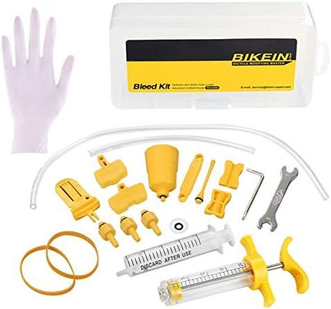 自転車オイルブレーキ修理キットアップグレードされたマウンテンバイクの交換ツールディスクブレーキシステム用油圧ブレーキブリードツールキット-黄色