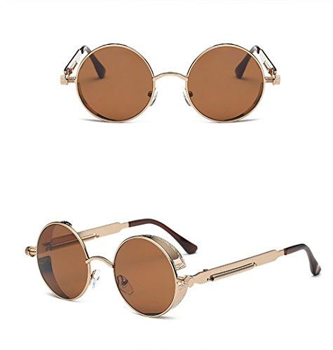 Primavera Sol De Unidos Piernas Reflectiva Estados Gafas Brillantes Gafas de Y Gafas Sol Sol Espejo Color De 7 9 Retro Marco De Metal Sol Gafas Los WYJL Europa Gafas 0Ht7XqH