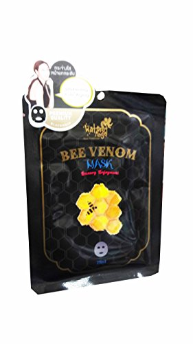 3 Mask Sheets of Water Angel Bee Venom Mask, Working on wrinkles and firming loose skin. (25 ml/ sheet.)