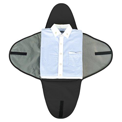 BAGSMART Luggage Travel Gear Garment Folder Anti-wrinkle Shirt Travel Packing Cube, Black