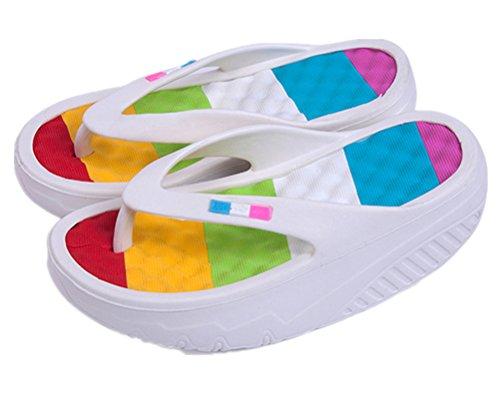 Slippers ANBOVER Beach Thong White Flops Sandals Flip Platform Massage Womens Wedges rYqFrP