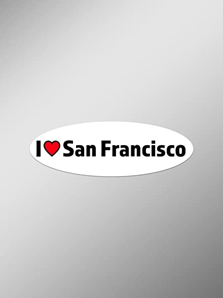 I love san francisco vinyl decals stickers two pack cars trucks vans windows