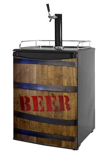 Cheap Kegerator Skin – Beer Barrel 01 (fits medium sized dorm fridge and kegerators)