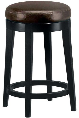 Leather non tufted swivel counter stool home and barstool store Home bar furniture amazon
