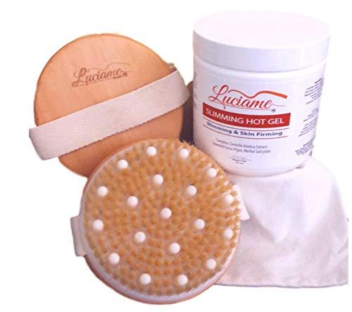 SLIMMING HOT GEL + CELLULITE MASSAGE BRUSH_ Best Cellulite Treatment- Fat Burner lotion- Slimming Cream- Belly Fat Burner Cream- Cellulite Removal- Skin Firming Cream Gel- Body Tightening Cream-