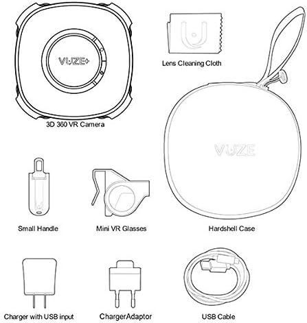 Vuze Plus 3d 360 Grad Kamera Schwarz Kamera