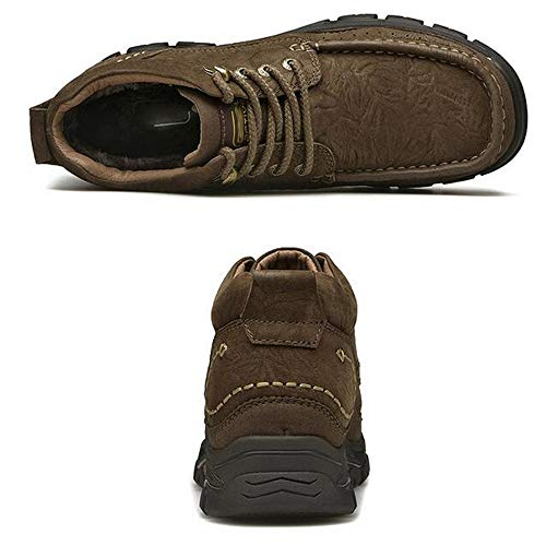 long Winter Warm Moda Libre Zapatos De Velvet Altos Wang brown Antideslizante Botas Al Martín Hombre Algodón 40 Para Dark Cuero Aire Senderismo Plus npd4gqwY