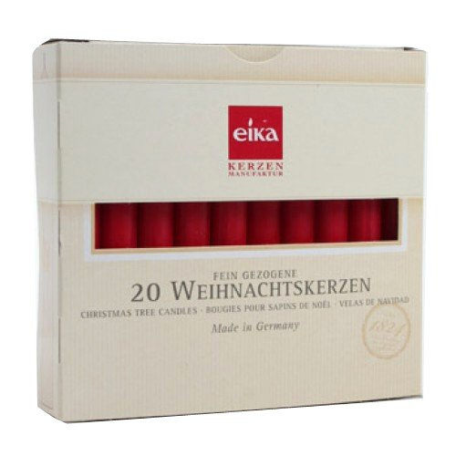 Box of 20 Red Chime Candles by Eika 4 Inch Swedish Angel Chime Candles