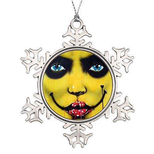 Monroe Valentine Tree Decorating Ideas Smiley Yellow Harlequin Western Christmas Snowflake Ornaments Tree Decor Smiley