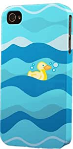 Swimming Rubber Duck Pattern Dimensional Case Fits Apple iPhone 4 or iPhone 4s by icecream design