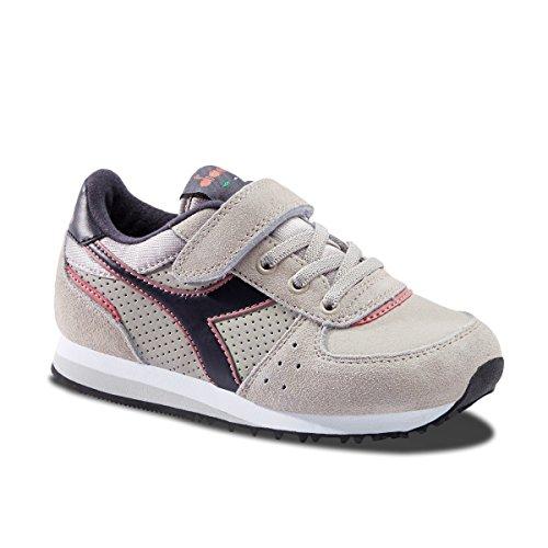 Grigio A Diadora Bambino Sneaker S 75046 Collo Basso Malone Jr TxxaBWwnqz