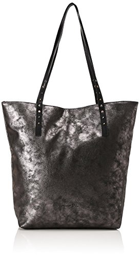 Tom Tailor Denim Ronja Shopper Bolso totes 40 cm Plateado (Altsilber)