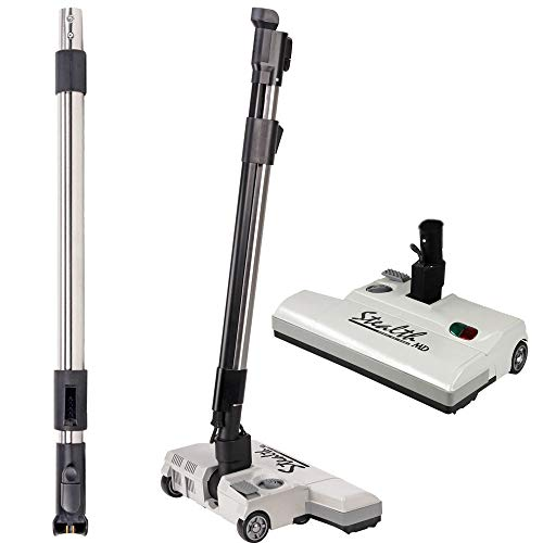 Stealth Central Vacuum Attachment Kit for Carpets and Floors – Compatible Will All Brands of Central Vacuum Systems- 15in Stealth Vacuum Head and Telescopic Integrated Wand