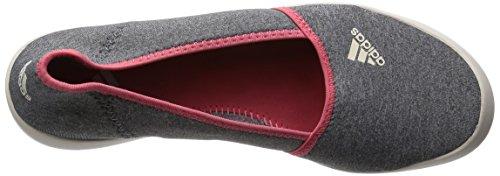 on Chaussures Chin Blanc gris De Adidas Boat Sleek Moyen Femme Slip Gris Sport AaxIp