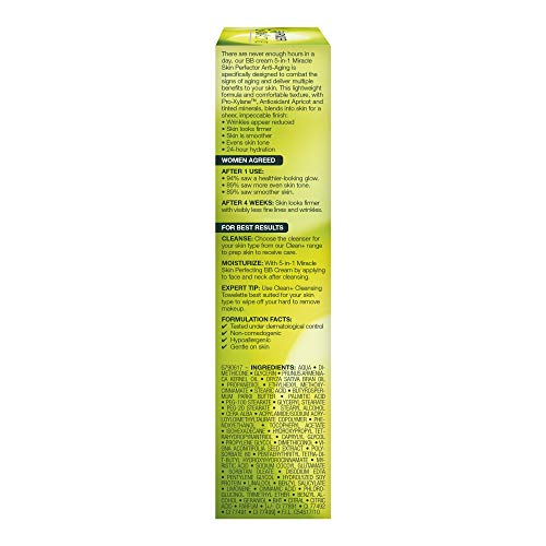 41doI8bw9yL - Garnier SkinActive BB Cream Anti-Aging Face Moisturizer, Light/Medium, 2.5 Ounce