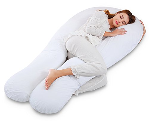 Marine Moon Pregnancy Pillow Maternity Pillow U Shaped Body Pillow for Pregnant Women/Adults with Cover and Extra Filling, Jumbo Size 68