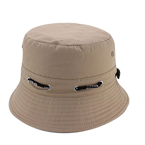 Quaanti Outdoor Unisex Boonie Sun Hat丨Cool Breathable 100% Cotton Bucket Summer Sun Cap for Men & Women丨for Fishing,Hiking,Camping,Boating & Outdoor Adventures.Breathable (Khaki)