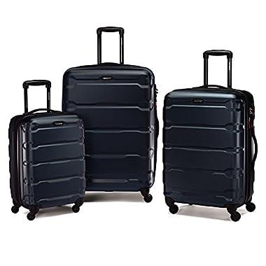 Samsonite Luggage Omni Pc Hardside 3-Piece Nested Luggage Set (One Size, Navy)