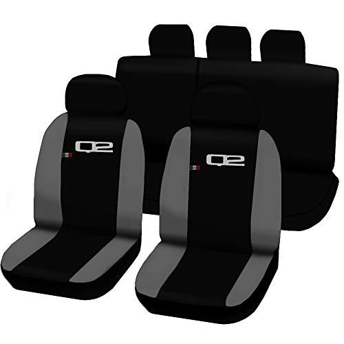 Autostoelhoezen Audi Q2, zwart/lichtgrijs