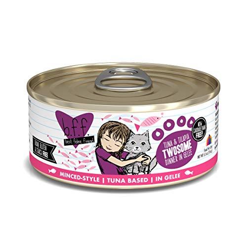 Weruva Best Feline Friend (B.F.F.) Tuna & Tilapia Twosome With Tuna & Tilapia In Aspic Cat Food, 5.5Oz Can (Pack Of 24)