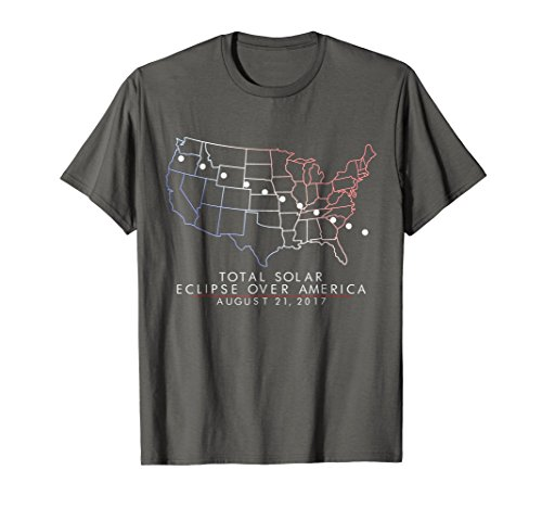Total Solar Eclipse 2017 T-Shirt Patriotic Red White Blue