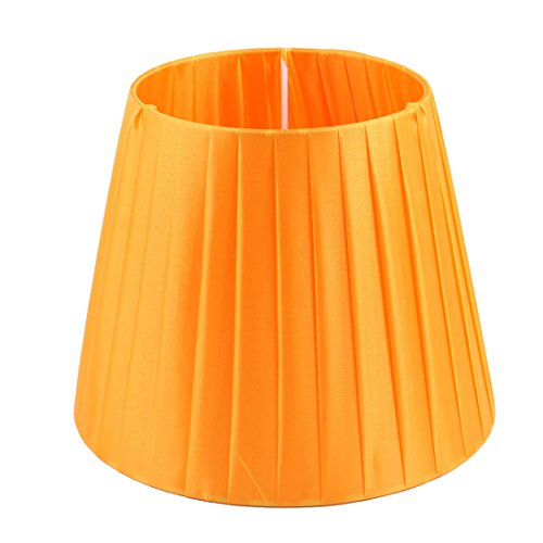 uxcell Lampshade Wall Bedside Floor Lamp Shade Light Cover 6.3x9.4x7.5 Inch (Slip UNO Fitter) Orange (Lamp Floor Shade Cone)