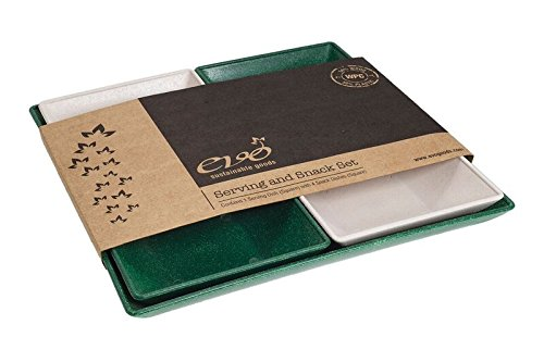 EVO Sustainable Goods Five Piece Serving and Snack Set, Dark Green by EVO Sustainable Goods