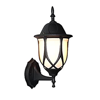LNC Trasitional Aluminum Wall Sconce for Garden Porch Patio, Black Finish