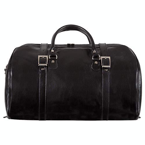 CUSTOM PERSONALIZED INITIALS ENGRAVING Alberto Bellucci Milano Torino Duffel Bag - Black ()