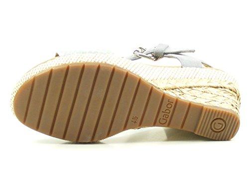 82 pour Sandale Gabor Gris Combi Karen femmes en 5 5 824 compensée UK T dxzzq0w