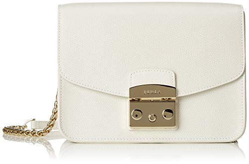 Furla Women's Metropolis Small Cross Body Bag, Petalo, White, One Size