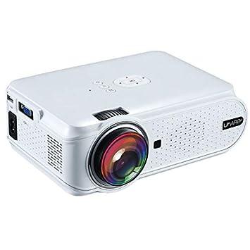 Proyector, U90 1500LM 800 * 480 Proyector LED de Cine en casa con ...