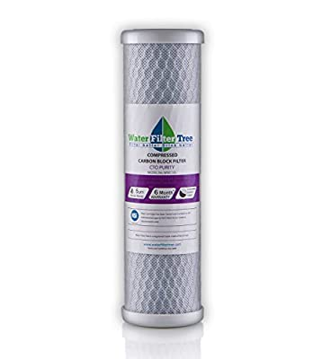 Universal 10 inch Carbon Block filter cartridge for Whole House Filter - 5 micron (NSF 42 Certified)