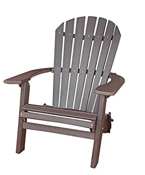 PHAT TOMMY Recycled Poly Deluxe Folding Adirondack Chair Eco Friendly Espresso