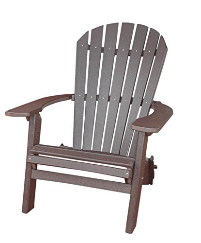 PHAT TOMMY Recycled Poly Deluxe Folding Adirondack Chair Eco Friendly Espresso Review