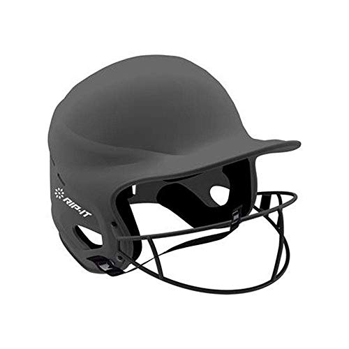 Helmet Matte Charcoal - RIP-IT Vision Pro Matte Softball Batting Helmet (Matte Charcoal, Extra Small)
