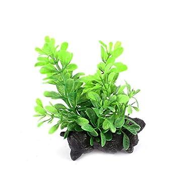 eDealMax Planta Peces de plástico acuario del tanque de agua de hierba Artificial Verde