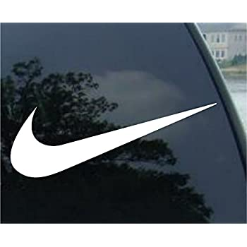 Nike swoosh logo vinyl sticker decal 4 white