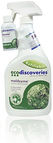 Ecodiscoveries MZ Moldzyme, Mold and Mildew Stain Remover, Starter Kit - 32 oz. Spray Bottle and 2 oz. Concentrate, makes 32 oz.