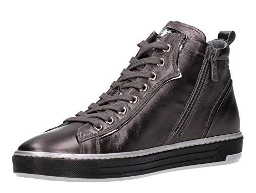 Perle Con A806662d 109 Nero In Piombo Sneakers Alte Pelle Grigio Donna Giardini wwn0aqSY