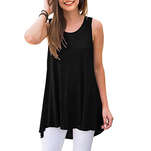 AWULIFFAN Women's Casual Round Neck Loose Tunic T Shirt Blouse Tops