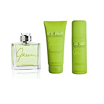 Amazoncom Yves Rocher Comme Une Evidence Homme Green 3 Piece