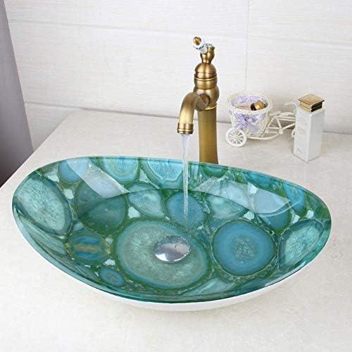 ゆば 新しい浴室の洗面台のタップ洗面強化ガラスミキサー手描きバス真鍮セット浴室船舶の蛇口タップ