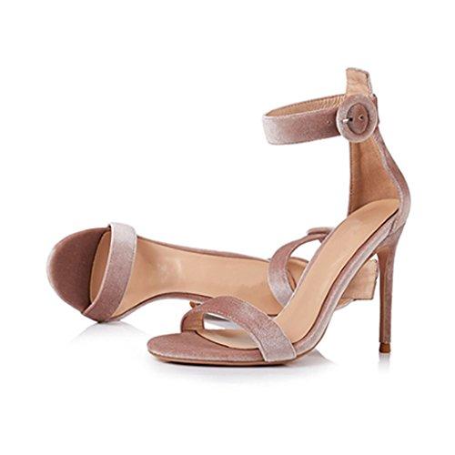 Tacones Sandalias Femeninas Europa Y Albaricoque Con 8cm Finos Alto De América Zapatos Tacón wHfqx6YH