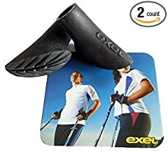 The original EXEL Nordic Walking Tips/Asphalt Paws! Ideal for Nordic Walking on pavement and other hard surfaces - including leave no trace hiking on rocks. Longer lasting than the cheap rubber tips coming in from China. The American Nordic W...